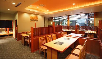 涮涮鍋、壽喜燒吃到飽名店推薦「しゃぶ禪」的六本木店禁菸區座位