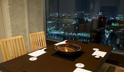 涮涮鍋、壽喜燒吃到飽名店推薦「しゃぶ禪」的銀座店夜景座位