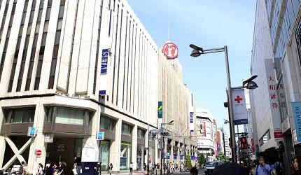 新宿是百货公司激战区,图为「伊势丹百货」