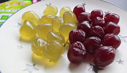 UHA味覺糖 KORORO人氣最高的葡萄與麝香葡萄口味。