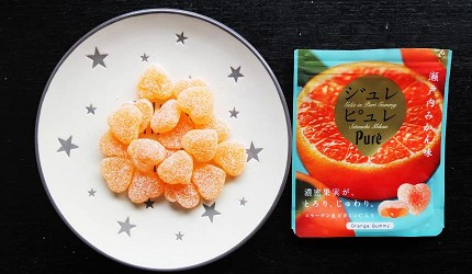 Puré 法式夾心軟糖瀨戶內蜜柑口味。