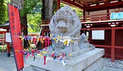 日光二荒山神社祈求良緣的「良緣狛犬」