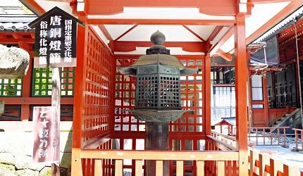 日光二荒山神社唐銅製「妖怪燈籠」上面有70幾處刀傷