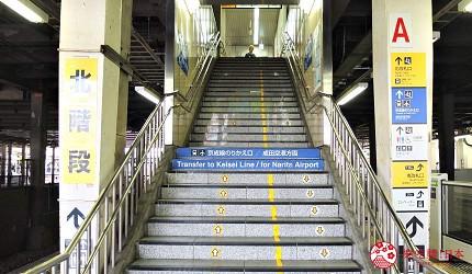 上樓前先確認是否通往北剪票口