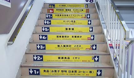 东京购物推荐上野多庆屋本馆AB栋楼梯