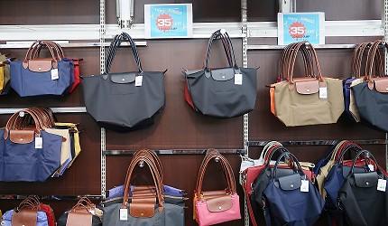 东京购物推荐上野多庆屋本馆三楼名牌包精品Longchamp