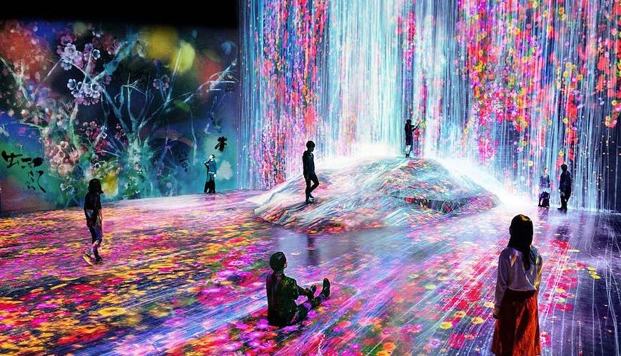 東京自由行必逛景點「台場」的teamLab Borderless 數位藝術美術館