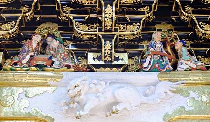 日本國寶陽明門上有超過500尊精美雕像