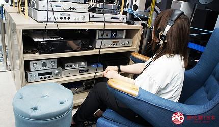 東京中野必去耳機店「FUJIYA AVIC」的店內試聽空間