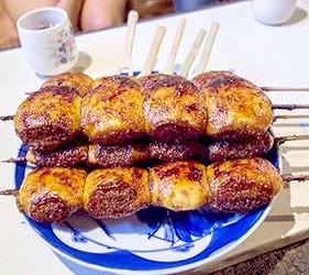日本關東群馬縣當地美食料理烤饅頭