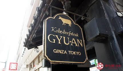 東京神戶牛和牛名店銀座牛庵交通方式