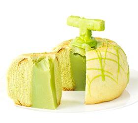 日本關東茨城縣哈密瓜甜點伴手禮土產一整顆哈密瓜年輪蛋糕