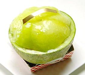 日本關東茨城縣哈密瓜甜點伴手禮土產一整顆哈密瓜蛋糕