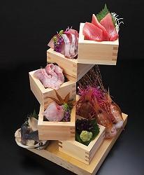 東京壽司推薦板前壽司菜單江戸タワー 旬の刺身盛り合わせ