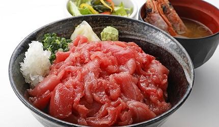 東京壽司推薦板前壽司午餐菜單黑鮪魚丼