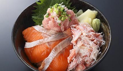 東京壽司推薦板前壽司午餐菜單豪華三色丼