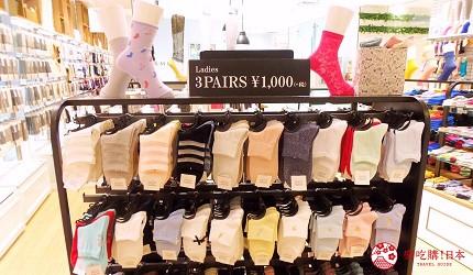 靴下屋襪子三雙一千日幣