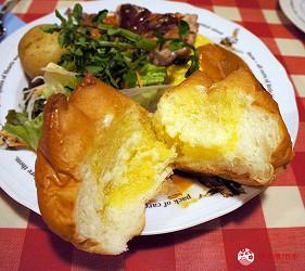 東京極品蛋包飯推薦「RAKERU」的口感鬆軟的RAKERU麵包