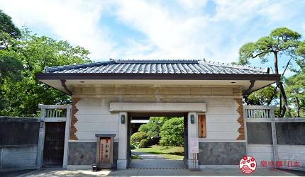 東京柴又老街推薦必去日本庭園「山本亭」的和洋風格融和的「長屋門」