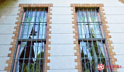 東京柴又老街推薦必去日本庭園「山本亭」的花窗玻璃