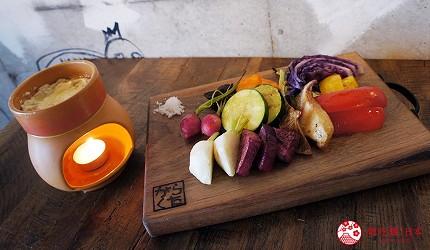 西新宿居酒屋「charcoal grill & bar 我樂多家」料理燒烤三浦蔬菜和熱沾醬