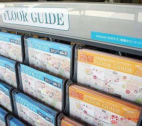 輕井澤王子outlet綜合服務中心內有多國語言地圖