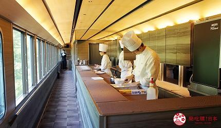 秩父52席的至福列車的餐點製作
