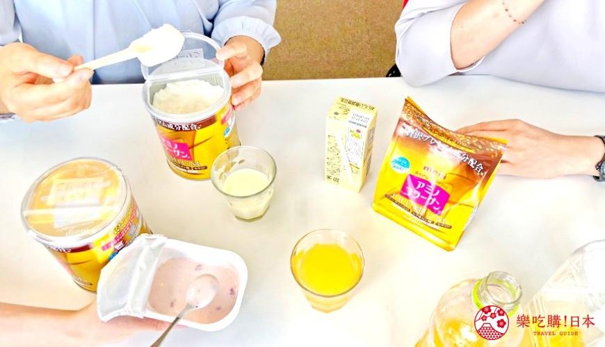 日本藥妝店必買No.1!明治金色版「膠原蛋白粉PREMIUM」的試喝會議