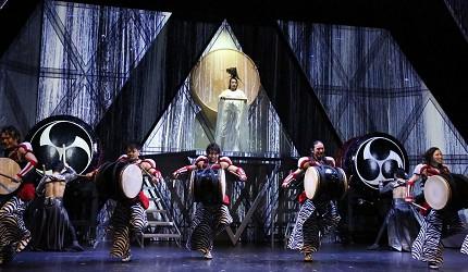 日本東京新宿和太鼓「萬華響」公演打鼓畫面一景