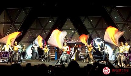 日本東京新宿和太鼓「萬華響」公演現場表演畫面