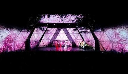 日本東京新宿和太鼓「萬華響」公演櫻花風景畫面