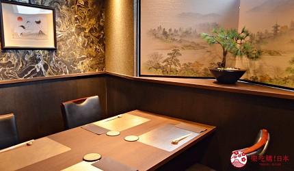 東京高級和牛涮涮鍋推薦新宿歌舞伎町「牛龍」的室內個室座位