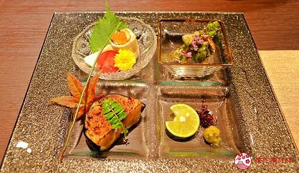 東京高級和牛涮涮鍋推薦:新宿歌舞伎町「牛龍」神戶牛特選涮涮鍋套餐的前菜拼盤