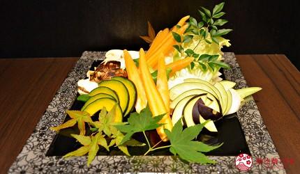 東京高級和牛涮涮鍋推薦:新宿歌舞伎町「牛龍」神戶牛特選涮涮鍋套餐的蔬菜