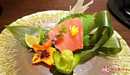東京高級和牛涮涮鍋推薦:新宿歌舞伎町「牛龍」神戶牛特選涮涮鍋套餐的生魚片