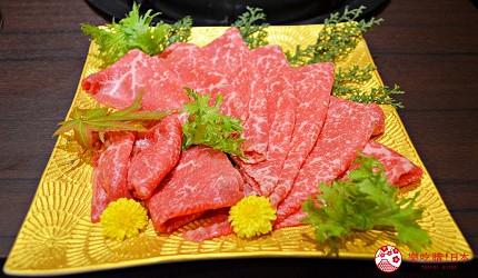 東京高級和牛涮涮鍋推薦:新宿歌舞伎町「牛龍」神戶牛特選涮涮鍋套餐的黑毛和牛大腿肉(兩人份)