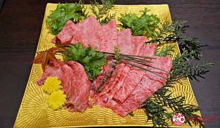 東京高級和牛涮涮鍋推薦:新宿歌舞伎町「牛龍」神戶牛特選涮涮鍋套餐的神戶牛肩里脊內側肉(兩人份)