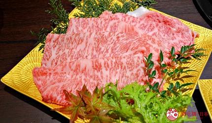 東京高級和牛涮涮鍋推薦:新宿歌舞伎町「牛龍」神戶牛特選涮涮鍋套餐的神戶牛後腰脊肉(兩人份)