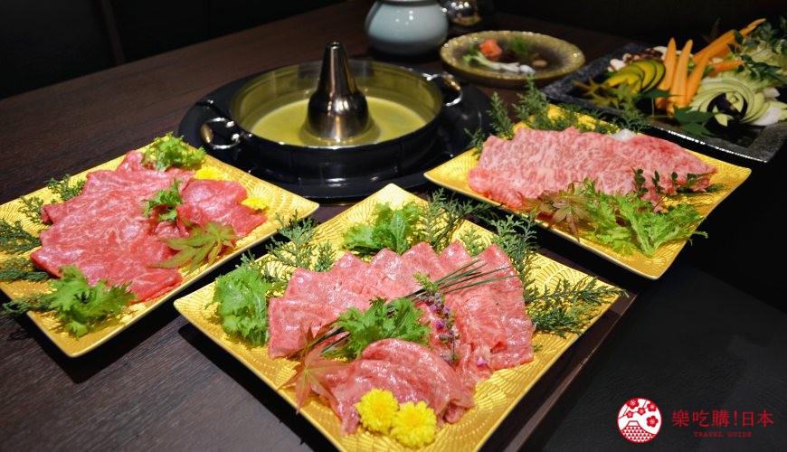 東京高級和牛涮涮鍋推薦:新宿歌舞伎町「牛龍」神戶牛特選涮涮鍋套餐的神戶牛肉片