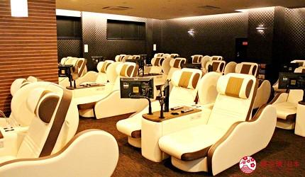 2018東京燈飾必去推薦「TOKYO MEGA ILLUMINATION」附近到「天然溫泉 平和島」泡溫泉,裡面提供高級座椅