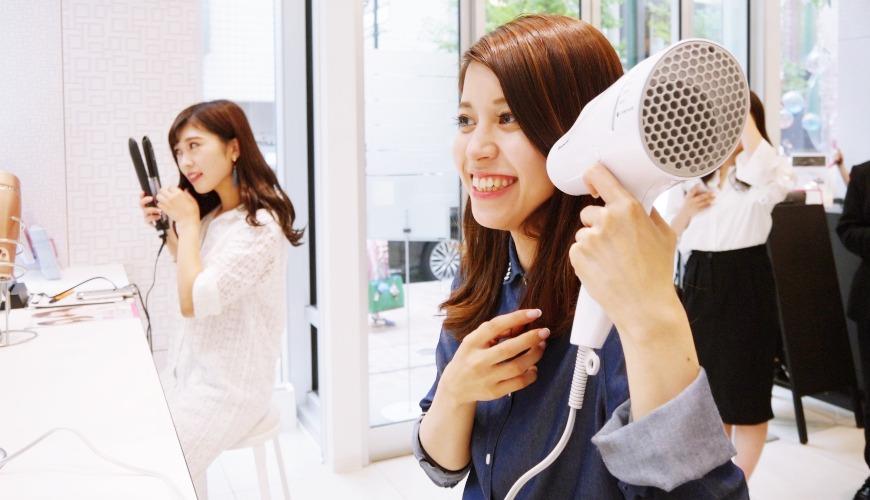 東京銀座Panasonic沙龍免費試用最新美容家電!2018奈米水離子吹風機、美容儀體驗報告