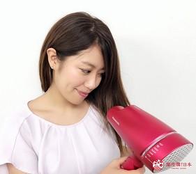 頂級美容家電購物推薦:Panasonic 2018奈米水離子吹風機「EH-NA9A」的實際試用照片