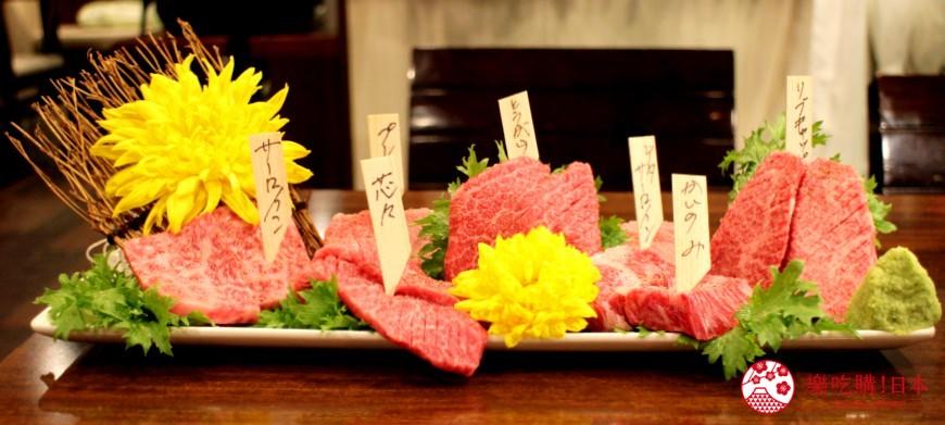 東京高田馬場燒肉激戰區的A5黑毛和牛絕品美味「吟まるJr.」的嚴選稀有部位「吟まる組合」(厳選希少部位「吟まるセット」)