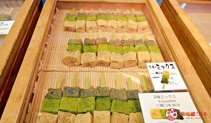 築地市場美食推薦「味の浜藤」的三色蕨餅