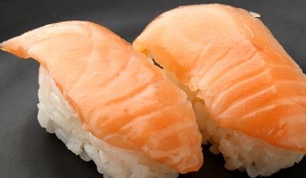 1,512日圓起的吃到飽燒肉店「Stamina太郎NEXT」壽司No.1推薦「鮭魚壽司」