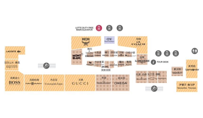 東京東急廣場銀座樂天免稅店8樓樓層地圖