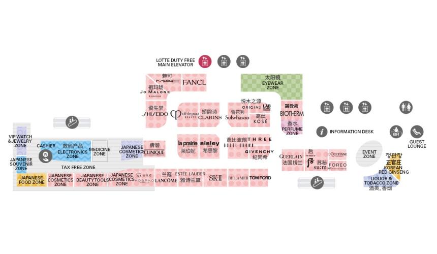 東京東急廣場銀座樂天免稅店9樓樓層地圖