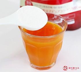 日本藥妝買膠原蛋白推薦ASTALIFT(艾詩緹)的「精純膠原蛋白」加入果菜汁試喝第一步