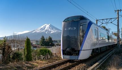 富士回游河口湖自由行自助规划交通方式怎么去新宿出发每天两班特急电车