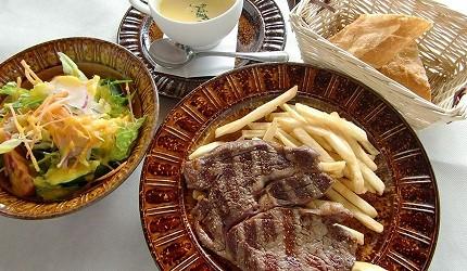 東京近郊景點輕井澤餐廳Pyrenees菜單牛里脊肉排午餐套餐